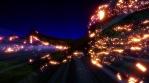 Lava glow rays orange