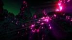Lava pilars side rays purple