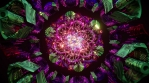 Love looping 4k mandala 3d with hypnotizing pattern on repeat for background