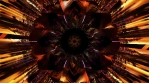 Seamless 4k 3d loop with kaleidoscope infinite patterns colorful design digital art