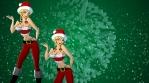 Sexy Santa Green 3D Snowflake