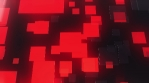 Red bouncing translucent 3D squares shifting up and down