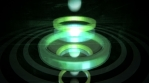 Spheres flying and bouncing fast through 3D rings