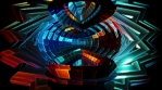 Crystal Organic Kaleidoscope Shape