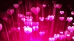 Pink Hearts Particles