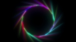 Colorful circular light effects