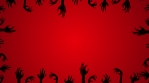 Zombie hands Red BG