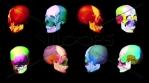 Flashing skull