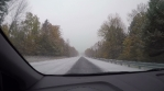 Snow driving time lapse