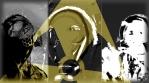 Gas masks and respirator + radiation sign