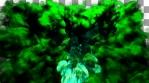 Dense Green 3D Smoke VJ Loop