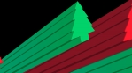 Red and green Christmas Trees animation