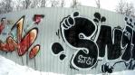 Graffiti on the walls Winter times