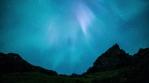 Deep space stars aurora borealis volcanic pyramid mountains Iceland realistic 4k