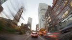 Boston city downtown high rise tower traffic hyper time lapse 4k