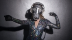 gasmask erotic sexy gogo dancer sparkle