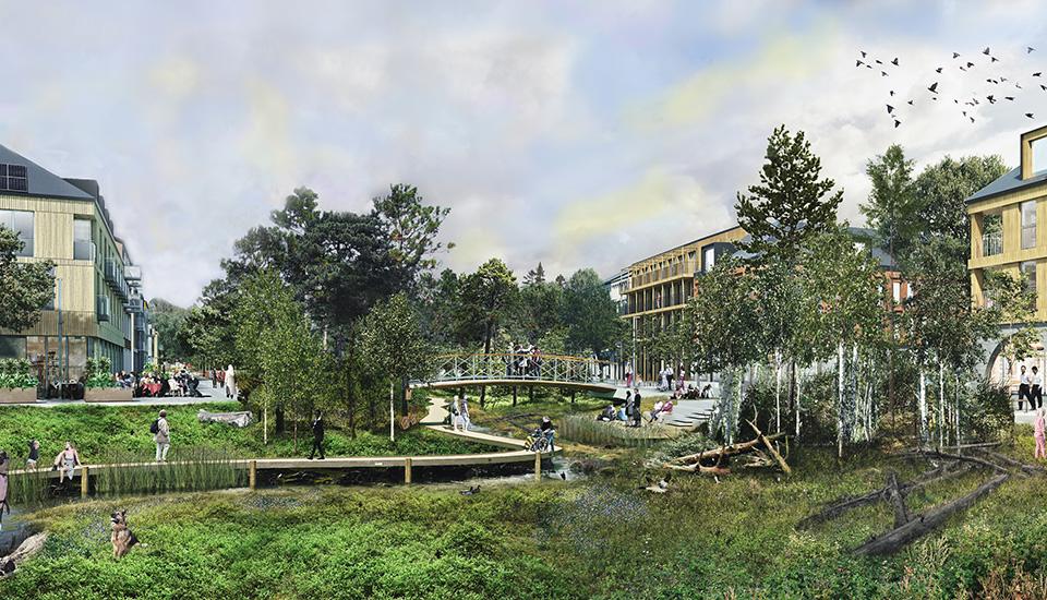 Tomtebo strand – Umeås nya hållbara stadsdel