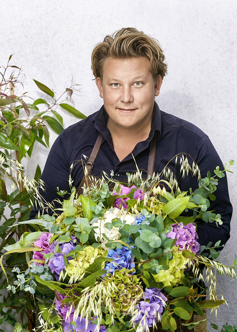 Karl Fredrik redo att fira in det nya året