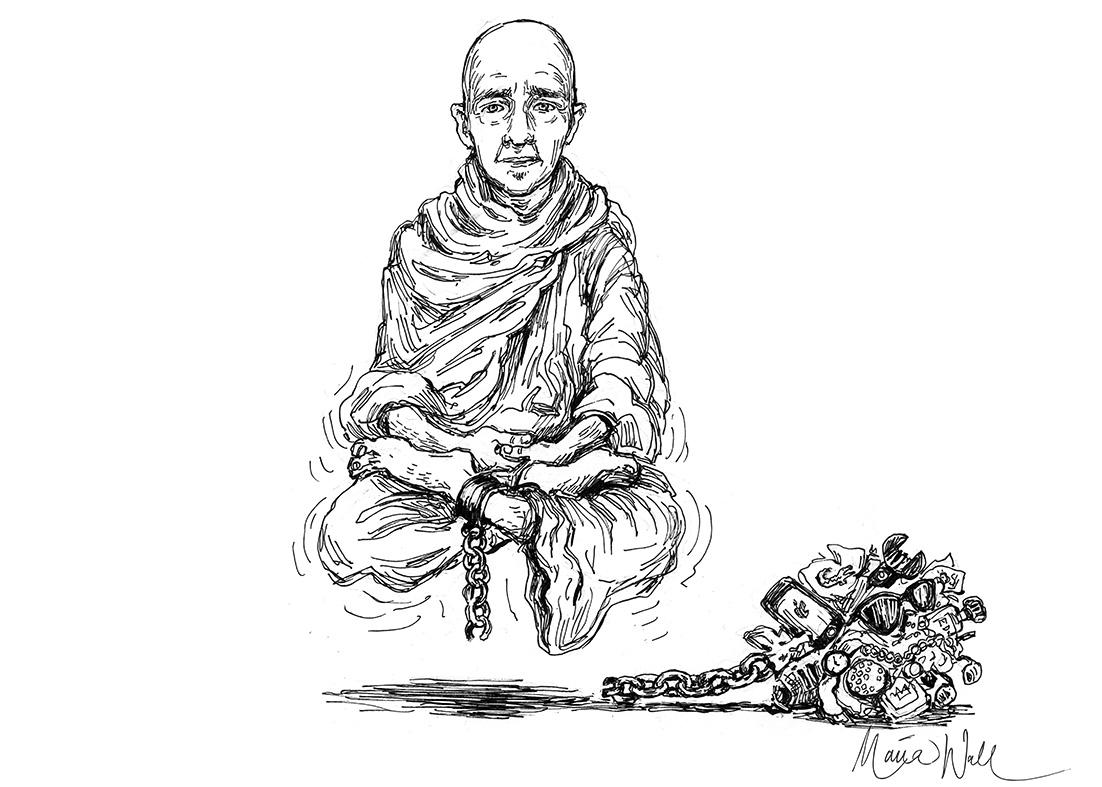 Jag mediterar hellre i kaschmir