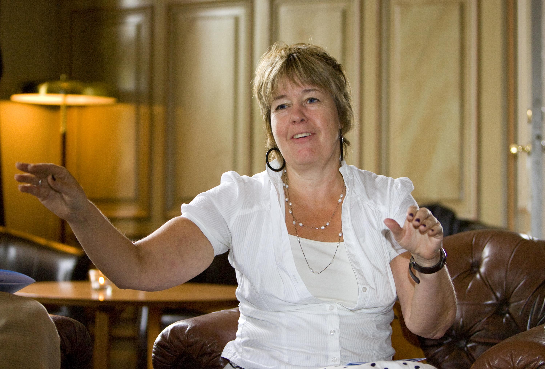 Britt-Marie Lövgren (C) Centern presenterar sin lokalpolitik på Rex.