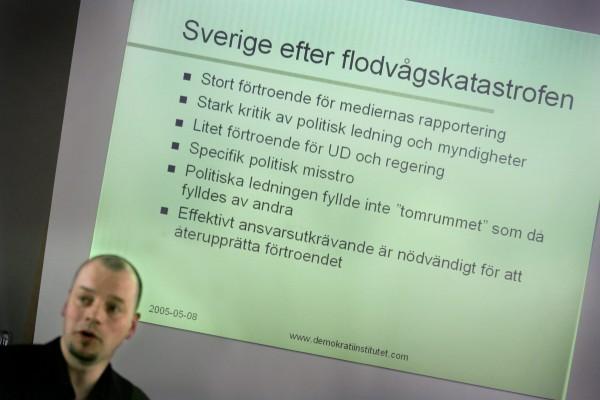 Rapporten Efter flodvågskatastrofen presenterades.