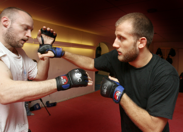 Inför MMA-Galan. Jonas Hellqvist och Tor Troeng