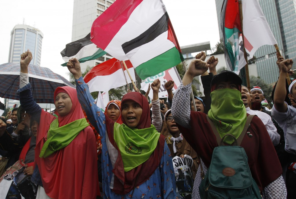 Indonesia Palestinian Protest