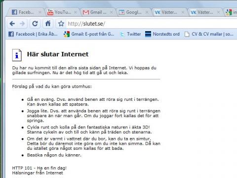 Här slutar internet.