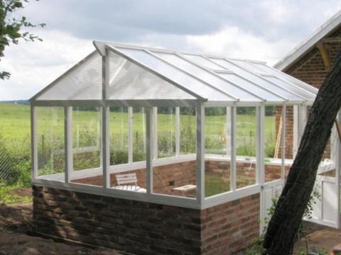 Mura lecablock växthus