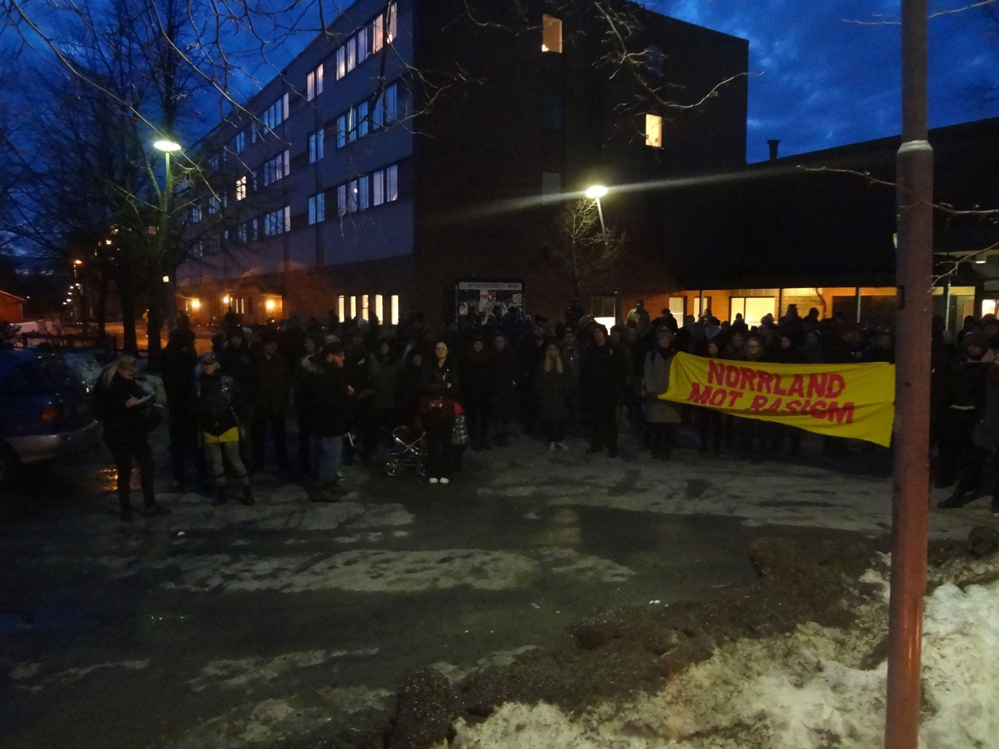 Demo mot nazism på Ålidhem
