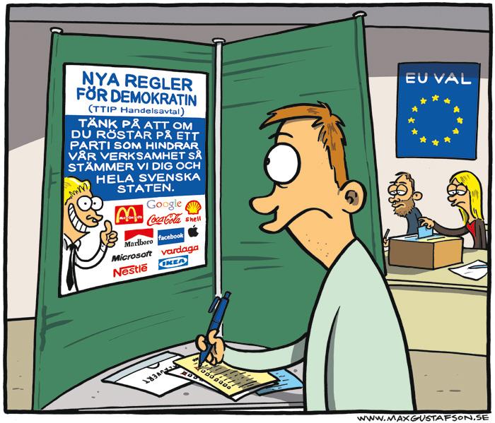 Bilden är hämtad från maxgustafson.se. Besök hans sida för mer politisk satir. :)