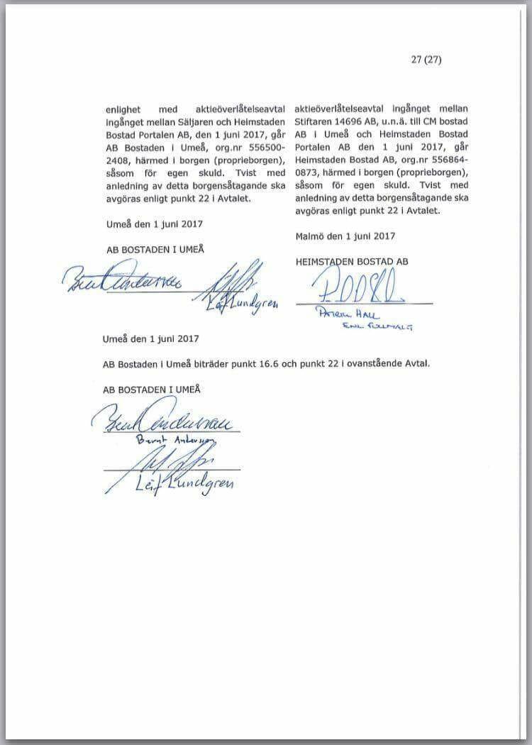 Avtalet underskrivet