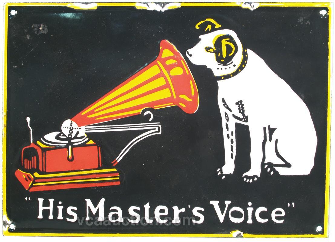His mastern voice