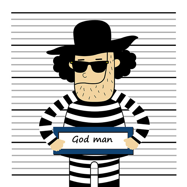 Prisoner vector cartoon