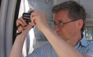 Leif med kamera
