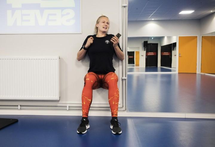 Annie Kjellberg A3 basketbasketspelare träningsserie
