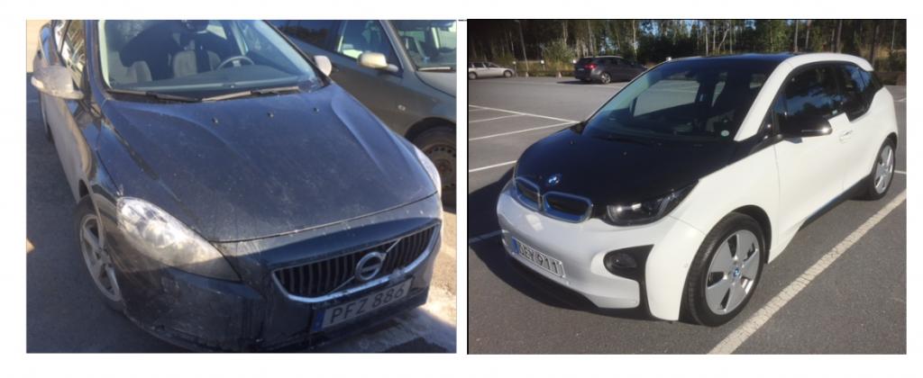 Så här ser de ut, Volvo V40 och BMWi3