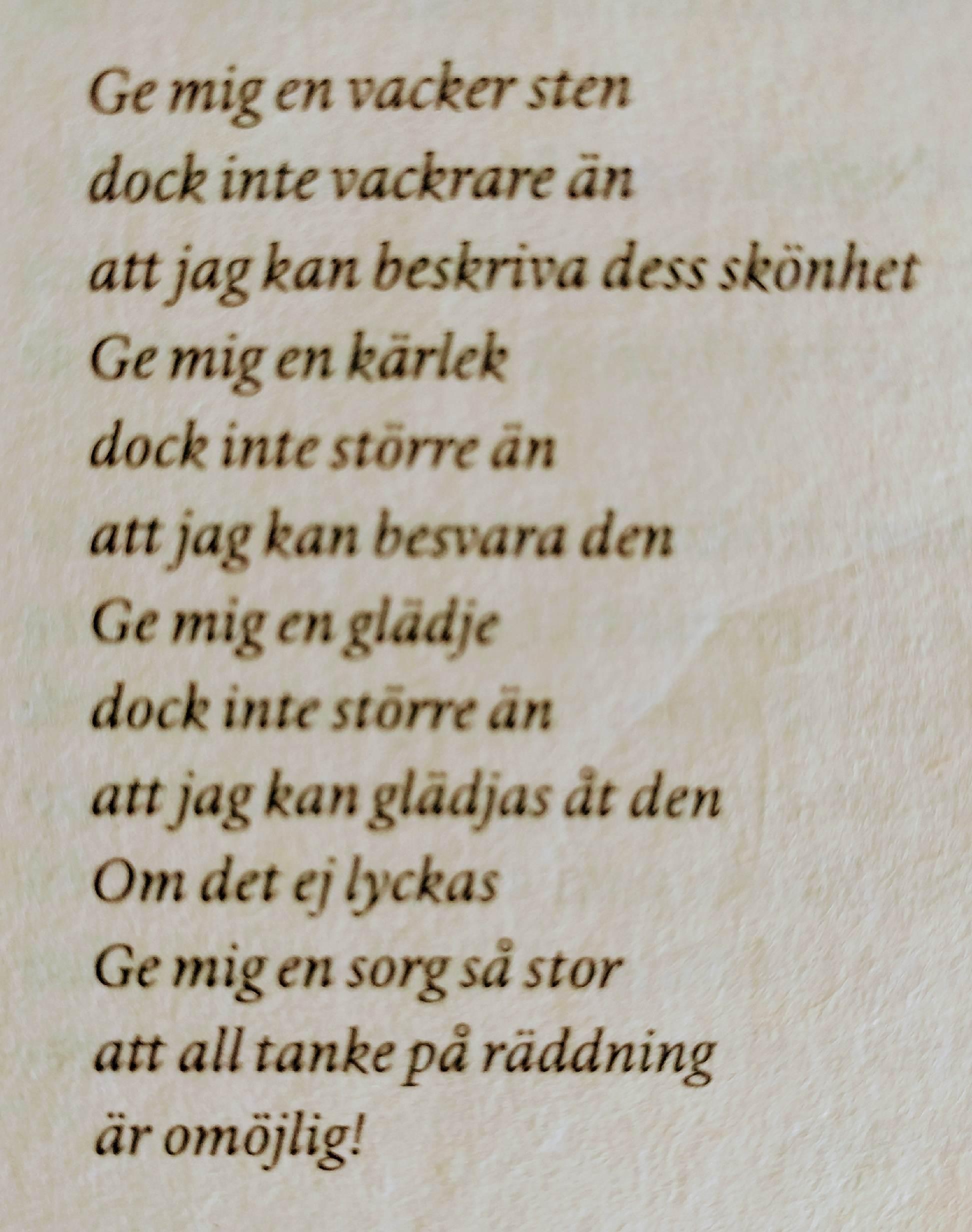 De finaste dikterna är ofta så sorgliga