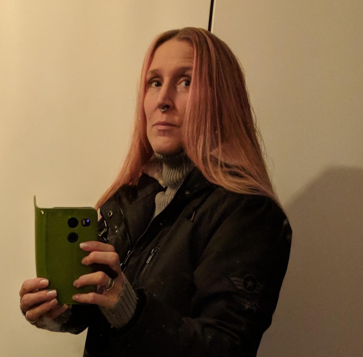 Håret blev lite rosa