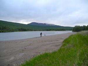 Lennart o Nasto på stranden