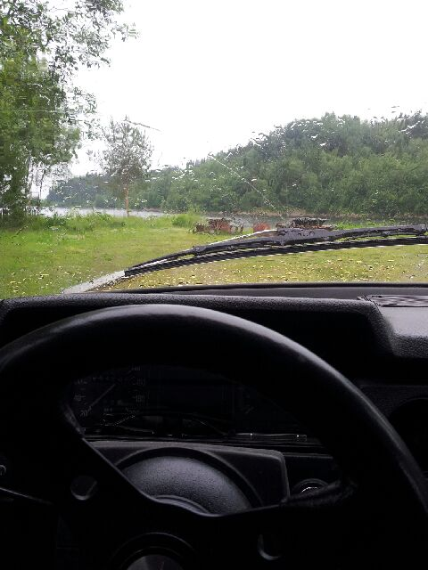 Regnet kunde inte utebli:( 12grader på...