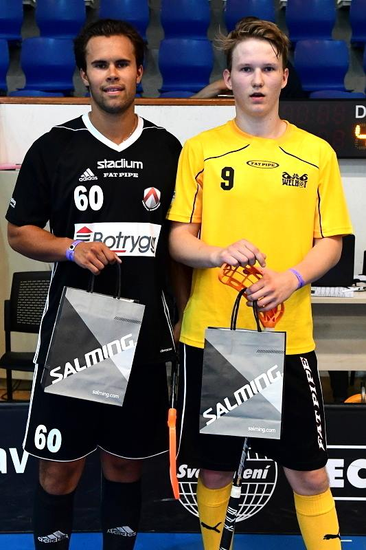 Linköpings Marcus Berglund (tidigare Dalen) utsågs till matchens spelare mot SB Welhot (photo source: Bohemia Trophy on facebook)