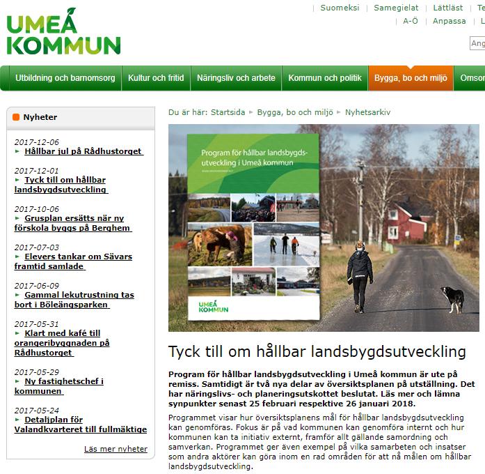 landsbygdsutveckling