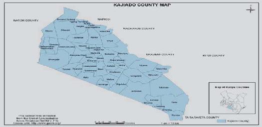 Map-of-Kajiado-County