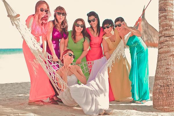 robes demoiselles d'honneur plage longues en mousseline