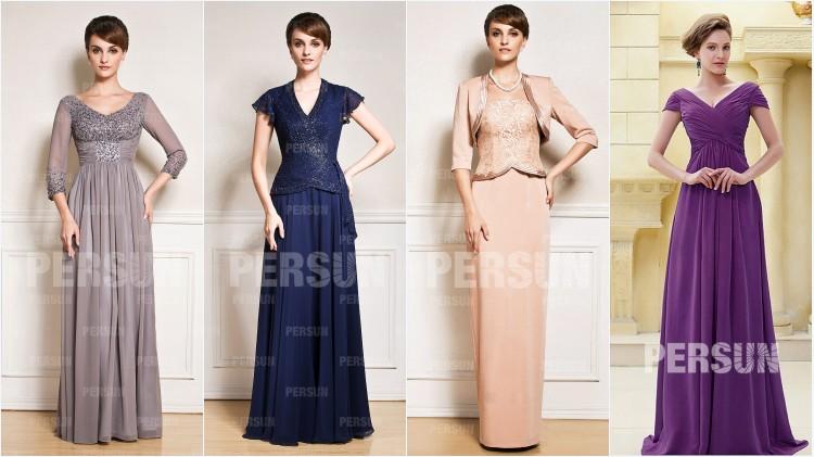 2ad0c2c11c3 robes de soirée longues pour mère de mariée