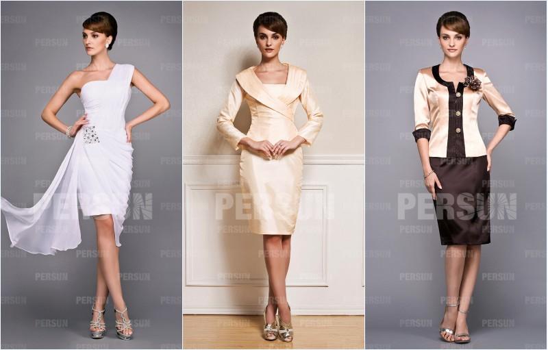 robes de soirée courtes pour mère de mariée