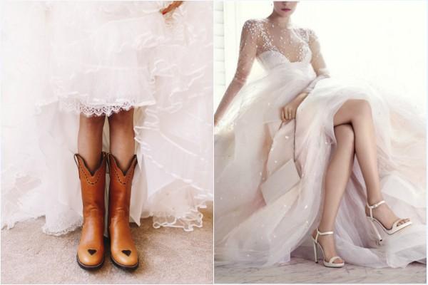 bottes ou sandales pour mariée