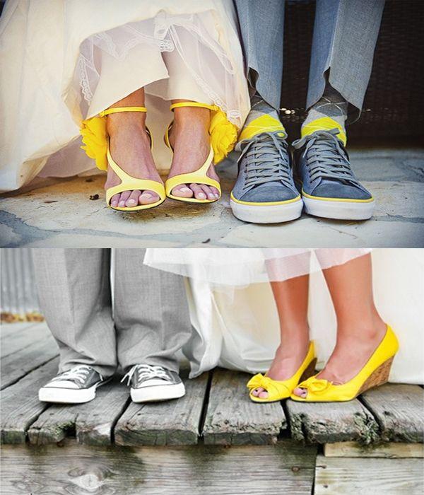 chaussures de mariée jaunes