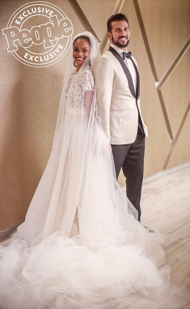Rachel Lindsay and Bryan Abasolo WeddingCredit: Clane Gessel